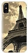 Sepia Eiffel IPhone Case