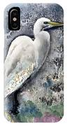 Silver Lake Snowy Egret IPhone Case