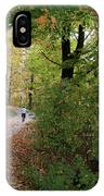 Autumn Bicycling Vertical One IPhone Case
