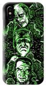 House Of Monsters Frankenstein Dracula Phantom Horror Movie Art IPhone Case
