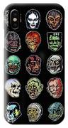 16 Horror Movie Monsters Vintage Style Classic Horror Movies  IPhone Case