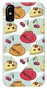 Black Cherry Pie And A Steaming Hot Cup Of Coffee IPhone Case