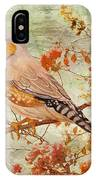 Zebra Finch Among Almond Trees IPhone Case by Angeles M Pomata