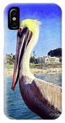 Soak Up The Sun Quote, Cute California Beach Pier Pelican IPhone Case