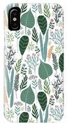 End Of Winter Spring Thaw Garden Pattern IPhone Case