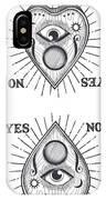 Yes No Goodbye Magic Ouija Vintage Planchette Design IPhone Case