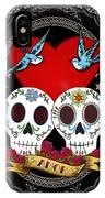 Love Skulls II IPhone Case