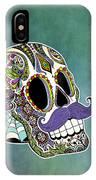 Mustache Sugar Skull IPhone Case
