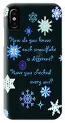 Snowflakes 2 IPhone Case