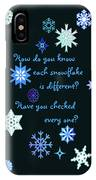 Snowflakes 2 IPhone Case