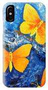 Butterfly In Blue 1 IPhone Case
