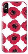 Three Red Poppies IPhone Case