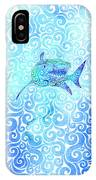 Swirly Shark IPhone Case