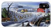 Folk Art Winter Landscape IPhone X Case