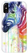 Rainbow Zebra - Ode To Fruit Stripes IPhone Case