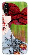 Asian Flower Woman Red IPhone Case
