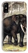 Asiatic Elephant With Young, 19th IPhone Case