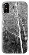Aspen Forest Black And White Print IPhone Case