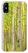 Aspen Tree Forest Autumn Time Portrait IPhone Case