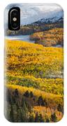 Aspens And Mountains In The Morning Light IPhone Case