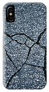 Asphalt Pavement With Cracks On The Surface IPhone Case