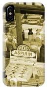 Aspirin In Sepia IPhone Case