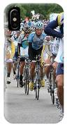 Astana Team With Lance Armstrong IPhone Case by Travel Pics