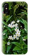 Asters And Fringed Grass-of-parnassus And Red Monkeyflowers On Highline Trail In Glacier National Pa IPhone Case