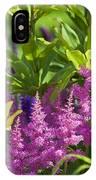 Astilbe In The Garden IPhone Case