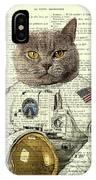 Astronaut Cat Illustration IPhone X Case