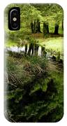 At The Edge Of The Forest Pond. IPhone Case