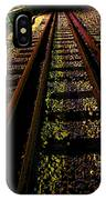 At The End Of A Railroad Track IPhone X Case