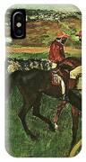 At The Races, Digitally Enhanced, Edgar Degas, Digitally Enhanced Maximum Resolution IPhone Case