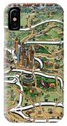 Atlanta Cartoon Map IPhone Case