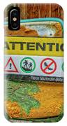 Attention Vernazza Trail Head Italy Dsc02657 IPhone Case