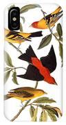 Audubon: Tanager, 1827 IPhone Case