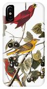 Audubon: Tanager IPhone Case