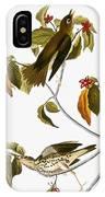 Audubon: Thrush IPhone Case