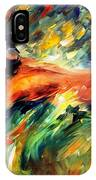 Aura Of Love - Palette Knife Oil Painting On Canvas By Leonid Afremov IPhone Case