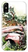 Austin A40 Van Rusting Away In The Garden IPhone Case