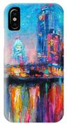 Austin Art Impressionistic Skyline Painting #2 IPhone Case