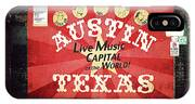 Austin Live Music IPhone X Case