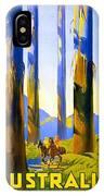 Australia - The Tallest Trees In The British Empire - Marysville, Victoria - Retro Travel Poster IPhone Case