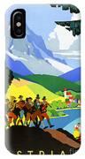 Austria Vintage Travel Poster IPhone Case