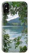 Austrian Lake Through The Trees IPhone Case