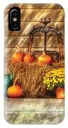 Autumn - Pumpkin - A Still Life With Pumpkins IPhone Case