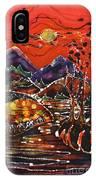 Autumn Adirondack Sunset IPhone Case