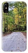 Autumn Along A Country Road 1 IPhone Case