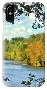 Autumn Along The New River - Bisset Park - Radford Virginia IPhone Case