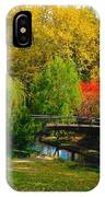 Autumn At Lafayette Park Bridge Landscape IPhone Case